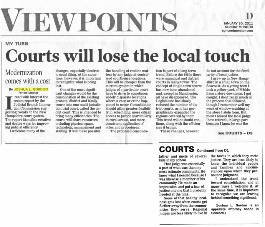 Courts will lose the local touch