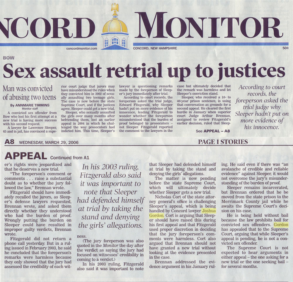 Sex assualt retrial up to justices