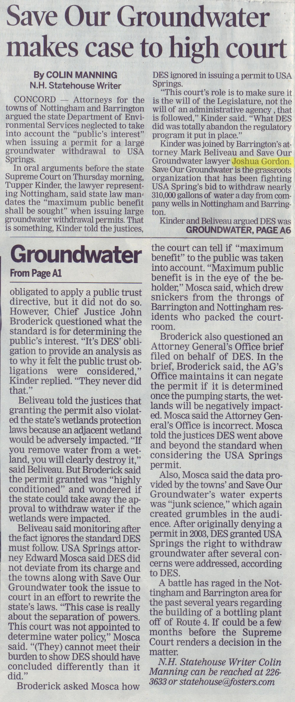Save Our Groundwater