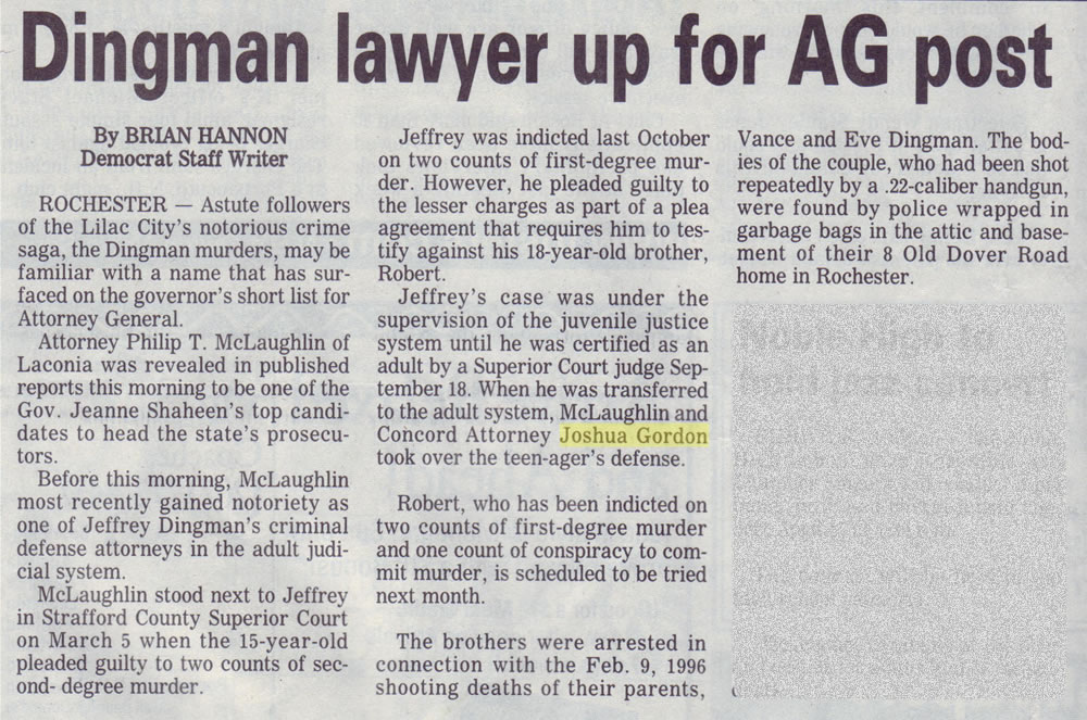 Dingman lawyer up for AG post