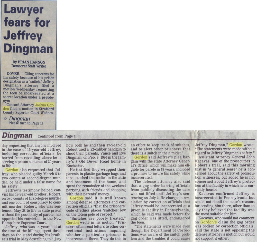 Lawyer fears for Jeffery Dingman