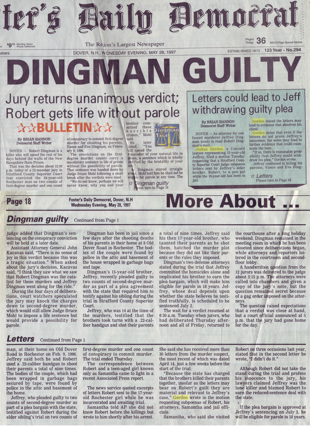 Dingman guilty