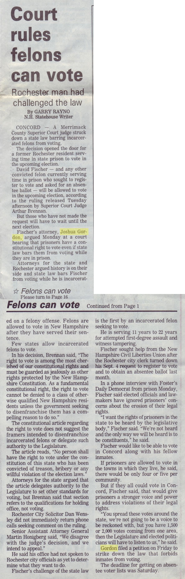Court rules felons can vote