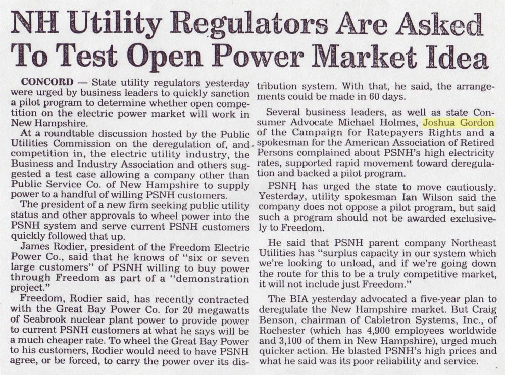 NH Utility Regulators