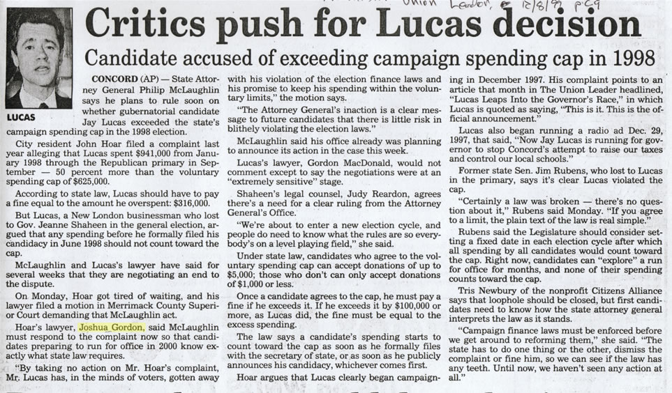 Critics push for Lucas decision